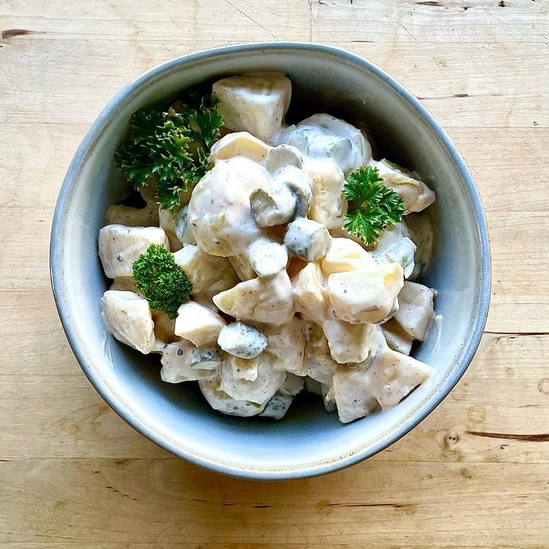 Recipe | Potato Salad with Greek Yogurt Dressing & Cornichons